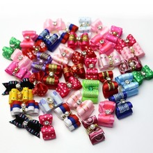 100PCS/lot Hot Sale Cute Dog Accessories Pet Hair Bows Cheap Price Different Styles And Colors Supply Chien Accessoire