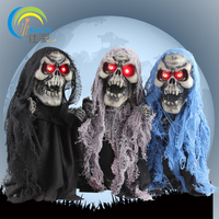 Walking Skeleton With Lights Halloween Decoration For Bar House Powered By Battery Voice Control Toy