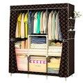 Складной нетканый шкаф для одежды Пылезащитная ткань шкаф стальная труба DIY сборка одежды шкаф для хранения детской комнаты мебель