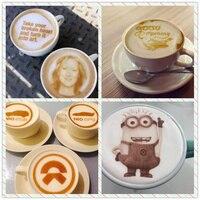 시간 당 인쇄 단일 컵을위한 슈퍼 브라운 컬러 셀카 커피 프린터 카푸치노 프린터