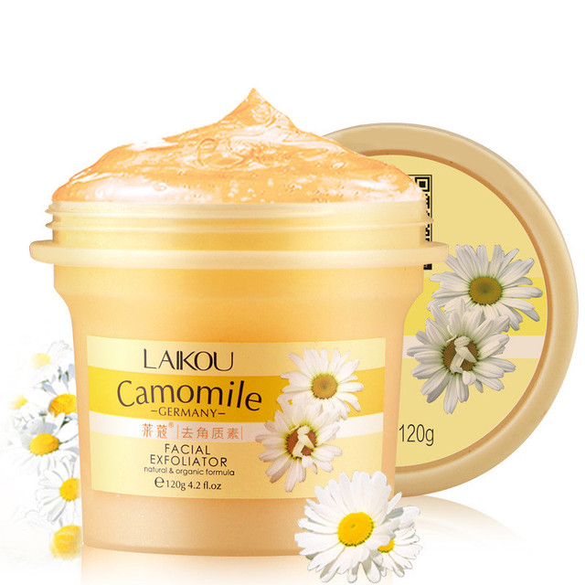 Natural Chamomile Hydrating Soft Body Scrub Exfoliating Gel Cream Body Shrink Pore Firming Deep Cleansing Body Care Cosmetics
