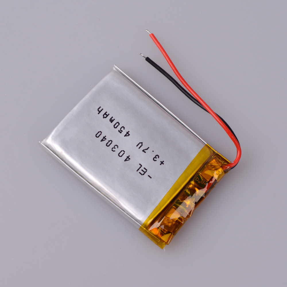 3,7 в 450 мАч 403040 литий-полимерный Li-Po литий-ионный аккумулятор Lipo ячеек для тахографа Автомобильный видеорегистратор Bluetooth динамик камера
