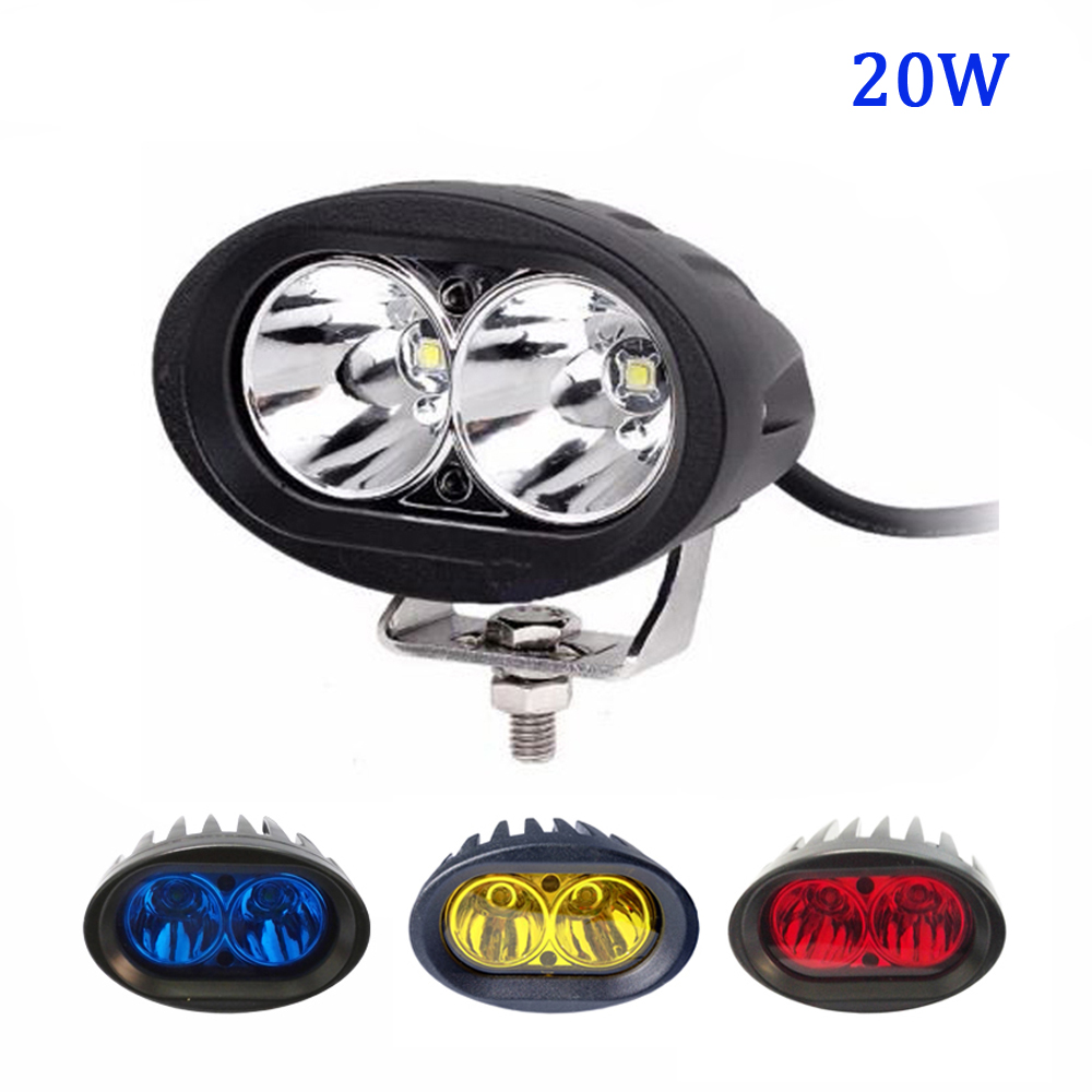10-48V DC blue Red Yellow Warning Light 12v 24v 4 inch 20w Light Vehicle Safety Lamp LED Forklift light forklift truck spot beam traffic signal light module 200mm diameter 8 inch blue road safety light dc 12 v cheap led cluster