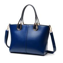 New 2016 Women Genuine Leather Handbags Famous Shoulder Bags Women Designers Brands Bag Vintage Tote Bags