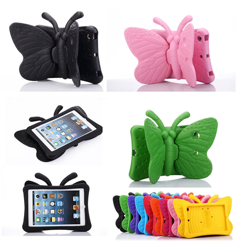 Cartoon Butterfly Shockproof Kids Safe Case For Ipad Air1 Mni 2 3 4