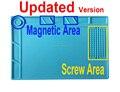 Efix Фена Станция Термостойких Изоляционных Магнитные Силиконовые площадку Стол Коврик Исправить iPhone BGA Паяльная Ремонт Tool Kit набор