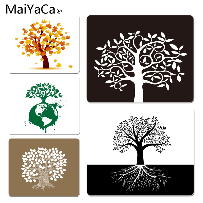 MaiYaCa Custom Skin Cherry Blossom Trees Life Tree Mouse Pad Gamer Play Mats Size For 18x22cm 25x29cm Rubber Mousemats