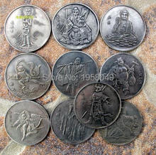 Chinese The journey to the west movie character alloy silver plated coin folk art souvenir free shipping 10pcs