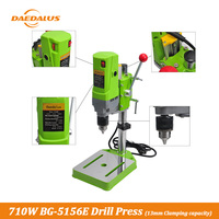 Daedalus 1PC BG 5156E 710W DIY Drill Press Electric Power Drill Press Stand Table Aluminium Alloy Variable Speed Machine