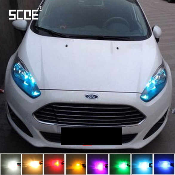 SCOE Car Styling T10 2x27SMD LED Clearance Light Lamp Bulb Source For Ford Fiesta Crystal Blue Warm White Red Yellow Green сумка для аксессуаров женская dakine accessory цвет черный синий песочный 0 3 л