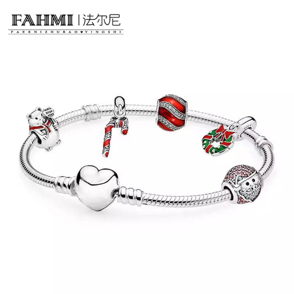 FAHMI The 2017 BLACK FRIDAY DEALS 925 Sterling Silver Sparkling Strand Bracelet Women Link Tennis Bracelet Silver Jewelry недорго, оригинальная цена