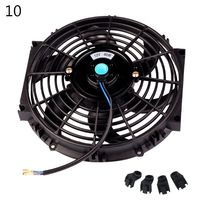 1 Pc 10inch 12inch 14inch Universal Vehicle Car Radiator Fan Slim Push Pull Electric Engine Cooling Fan 12V Auto Car Accessories