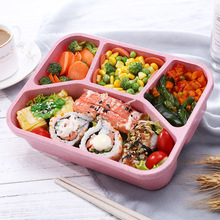 2019 Lunch Box Food Container Plastic Box For Food Japanese Lunchbox Wheat Straw Lunch Box Portable Microwave Oven цена и фото
