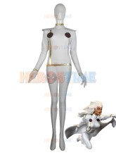 X-Men costume Halloween Lycra Spandex X-men White Storm Superhero Costume hot sale show zentai suit