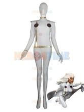 X-Men costume Halloween Lycra Spandex X-men White Storm Superhero Costume hot sale show zentai suit