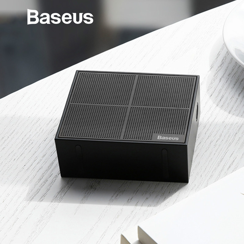 Baseus E05 Bluetooth Speaker Portable Outdoor Square Box Wireless Speaker With 15 Hours Super Long play time Bass Sound box original box uk gec 807 vt60 sound super single price