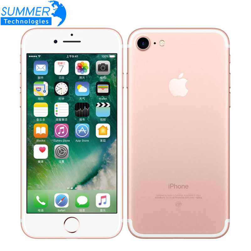 Ecouteurs earpod Apple iPhone 7 Quad Core 2 gb RAM 32/128 gb/256 gb IOS touch ID LTE 12.0MP iphone7 D'apple D'empreintes Digitales 12MP Téléphone Portable