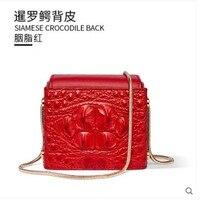 Gete сумка из крокодиловой кожи для женщин 2019 Новая мода мини квадратная сумка тренд вечерний наряд крокодиловая кожа сумка с черепом для жен