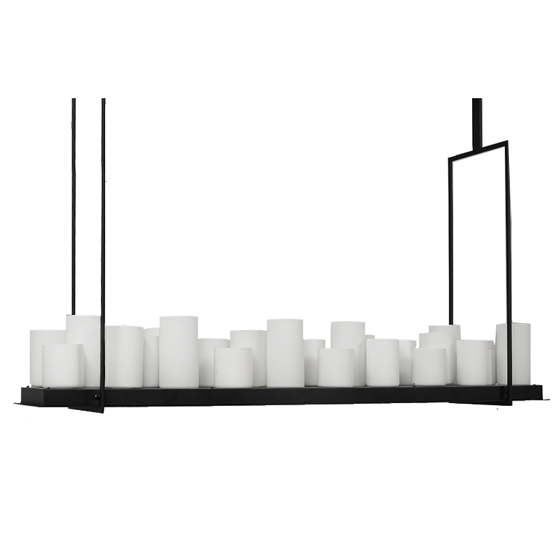 Rectangular Wrought Iron Chandelier Pictures Of Dining: Led Industrial Vintage Pillar Candle Candelabra