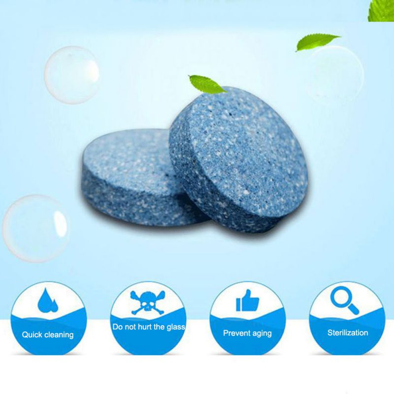 Car Concentrated Effervescent Tablets High Performance Cleaning Disinfecting Car Windscreen Nursing Household Cleaner