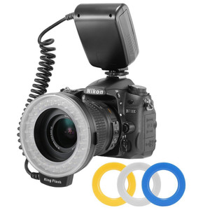 Image 3 - RF 550D 48 Chiếc Macro Flash Vòng LED Kèm 8 Adapter Ring Cho Canon Nikon Pentax Olympus Panasonic Máy Ảnh DSLR đèn Flash V HD130