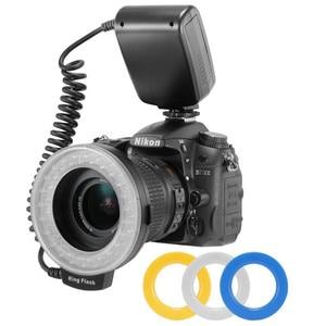 Image 3 - RF 550D 48pcs Macro LED Ring Flash Bundle with 8 Adapter Ring for Canon Nikon Pentax Olympus Panasonic DSLR Camera Flash V HD130