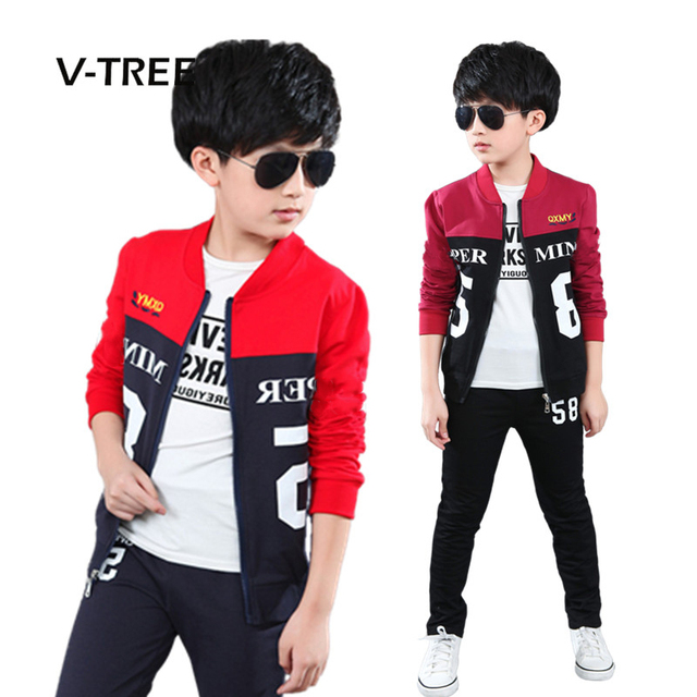New spring 4-12 years boys clothing sets teenagers baby boys sports clothing school kids suit sets uniform boys jackets pants