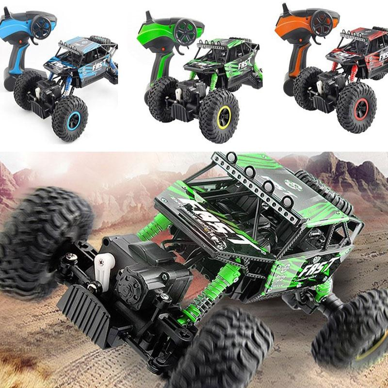 RC Car 2.4GHz Rock Crawlers Rally Climbing Car Bigfoot Car Remote Control Model Off-Road Vehicle Toys For Children
