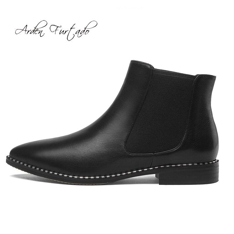 Matures Noir De Femmes Pointu Bottines Hiver Bande Mode Courtes Bout Cuir 2019 Chaussures Concise Élastique En Grande Taille Black Appartements Bottes 43 FxAAU7q