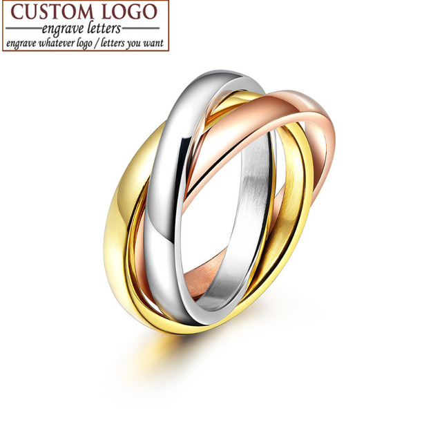 AZIZ BEKKAOUI Fine Jewelry rose gold color brief 3 circle ring three
