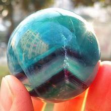 40mm Natural and beautiful colored fluorite ball