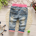 2016 new spring children girls clothing long pants girls jeans baby clothing jeans 0-2 years