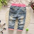 2016 nova primavera crianças roupas meninas calças compridas meninas calças de brim calças de brim da roupa do bebê 0-2 anos