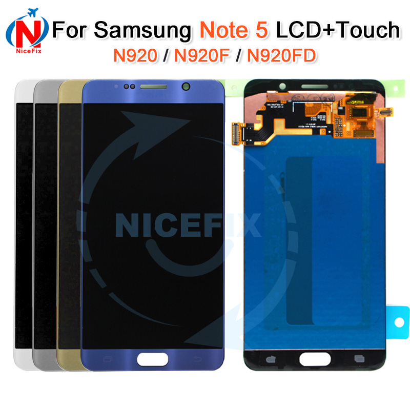 For Samsung Galaxy Note5 NOTE 5 N920 N920F N920T LCD Display Touch Screen Digitizer Assembly For SAMSUNG NOTE 5 LCD