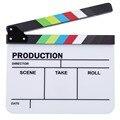 Profesional Colorido Acrílico Claqueta Clapper Board TV Director de Película de película de Acción de Borrado En Seco Pizarra Clap Handmade Cut Prop