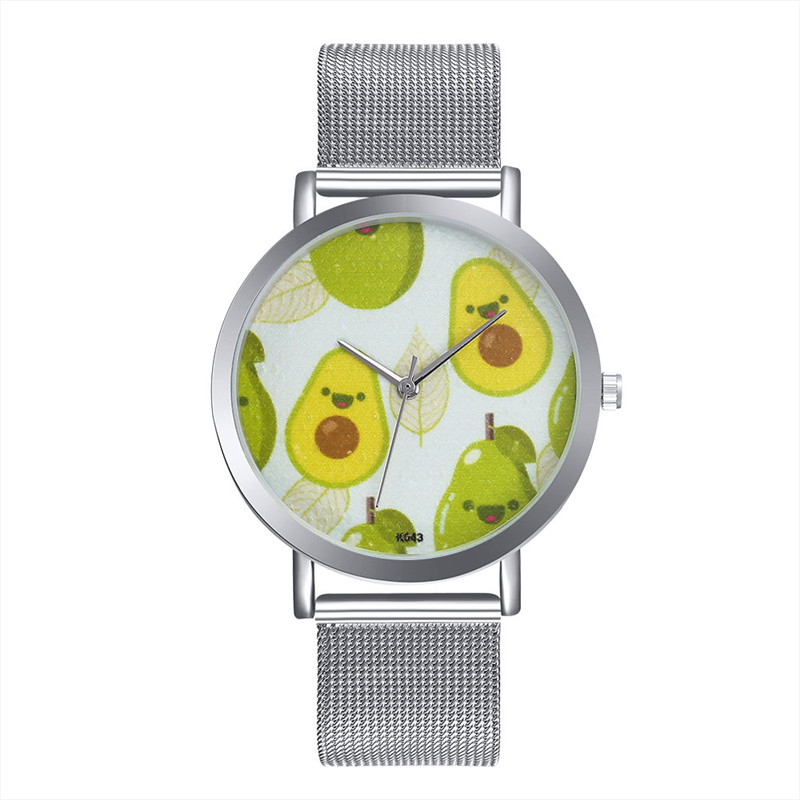 MJARTORIA Relojes Feminino Luxury Avocado Men Business Steel Bracelet Watch Couple Watch ...