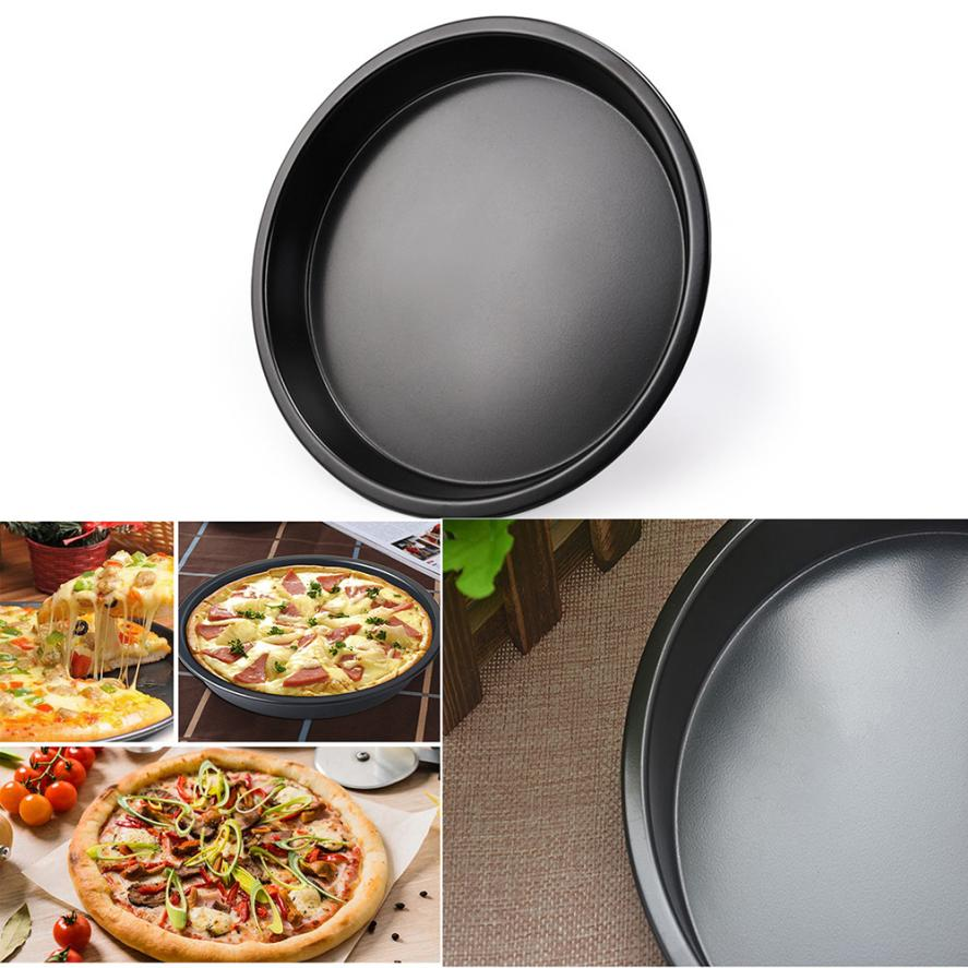 Round shape pizza dish 7inches Useful Round Deep Dish Pizza Pan Non-stick Pie Tray Baking Kitchen Tools Dropshipping 18jul25 нож для пиццы