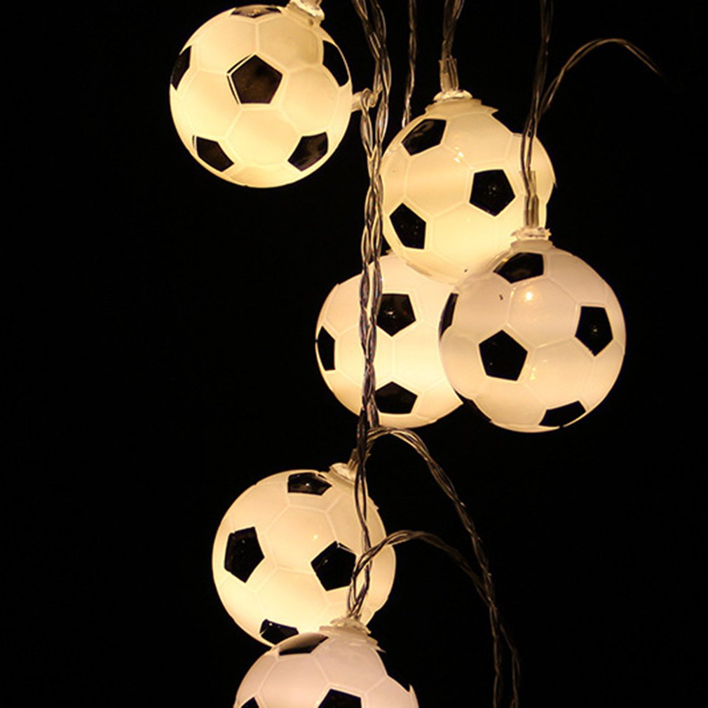 2018 New Football Bulb LED Light String Battery Operated String Light Home Party Decor Lights For Christmas Garland