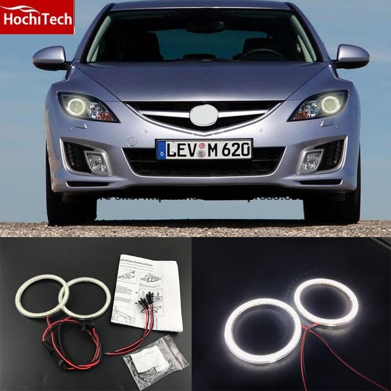 HochiTech 2000LM 12 v branco Ultra brilhante SMD LED angel eyes halo anel kit daytime running luz DRL para mazda 6 2007-2012