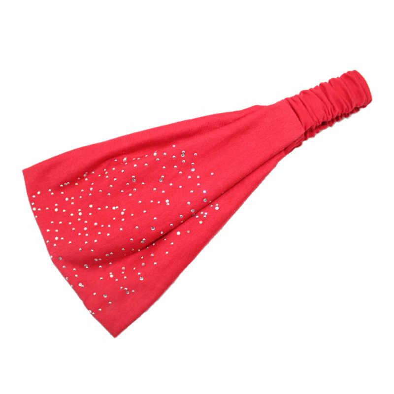 Женская эластичная повязка на голову LNRRABC, Мягкая повязка для волос со стразами, тюрбан, повязка на голову, головной убор для спорта, аксессуары, тиара