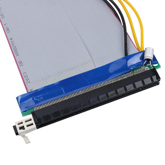 kebidu 16X to 16X Molex Power PCI-E Riser Extension Cable PCI Express Riser Card Adapter Converter for Bitcoin Miner 3