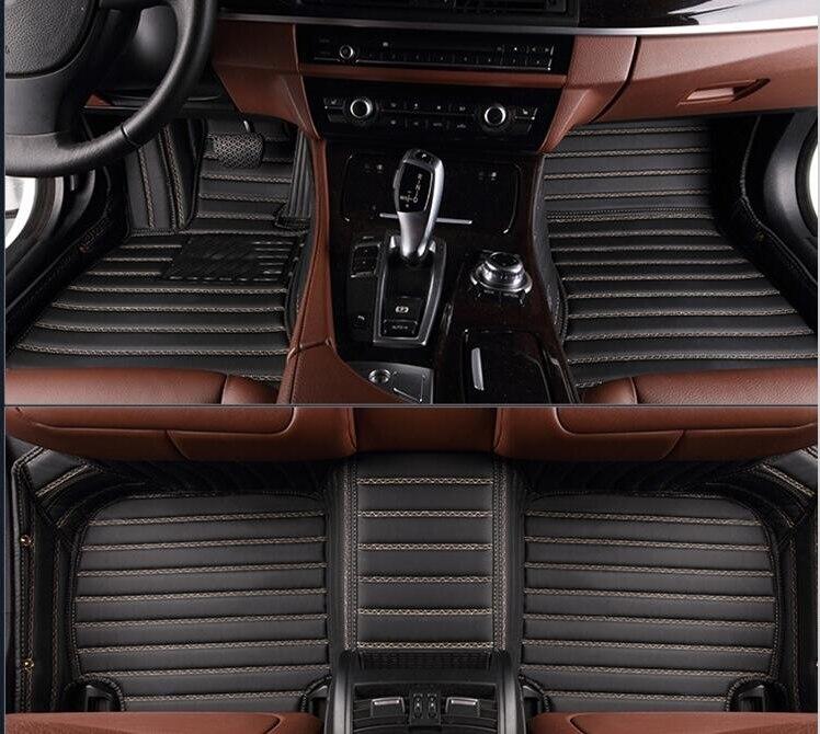 Top quality & Trasporto libero! personalizzato tappetini auto speciale per Audi A4 B9 Sedan 2017 tappeti impermeabili durevoli per A4 B9 2018