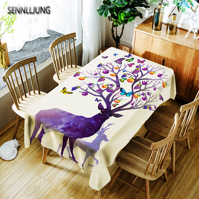 Superbe SENNLLJUNG Oilproof Tablecloth Waterproof Oilcloth Table Cloth Dining  Kitchen Table Cover Protector OILCLOTH FABRIC COVERING