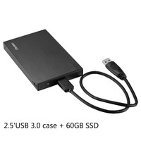 Zheino P2 60GB USB3 0 External Aluminum Case Super Speed With 2 5 SATA Solid State