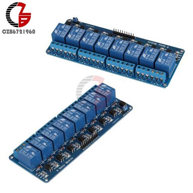 Carte de Module de relais de cc 5V 8 canaux avec optocoupleur pour le commutateur de maison intelligente darduino maximum 10A ca 250V cc 30V