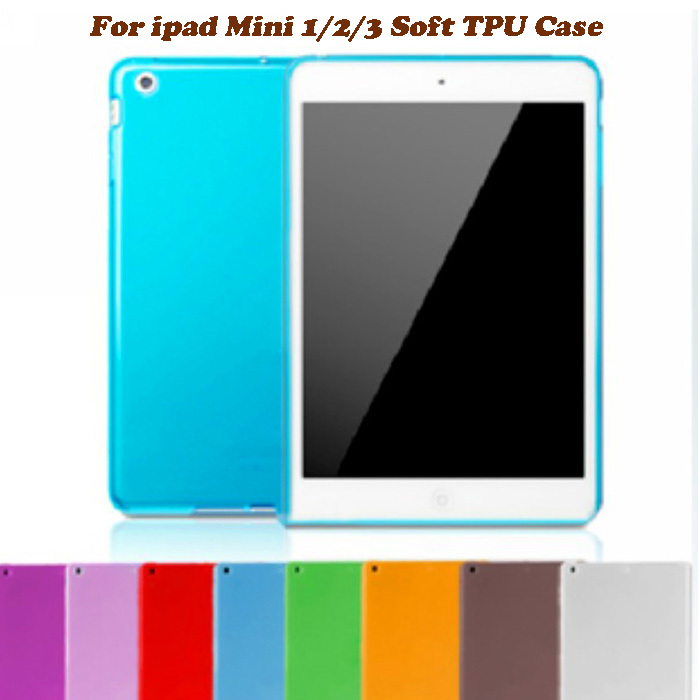 Slim Matte Soft Transparent TPU Gel Rubber Back Skin Cover for Apple New iPad Mini 1 / 2 / 3 Retina 7.9 Tablet Protective Case soft tpu tablet back case for ipad air 1 2 silicone transparent cover for ipad mini 1 2 3 for ipad2 3 4 crystal protective case