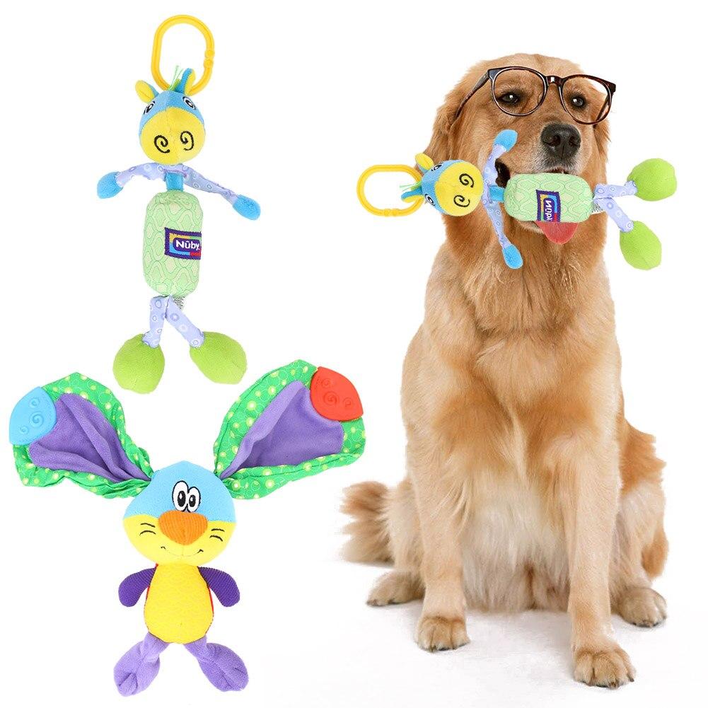 Juguetes del perro Productos Para Mascotas Colorido Elefante Ardilla de Peluche