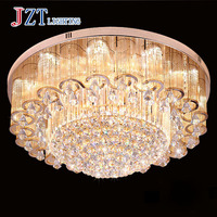 T 2016 NEW Luxury Large Crystal Ceiling Lights With LED Chips Circular Flower Lamps For Foyer