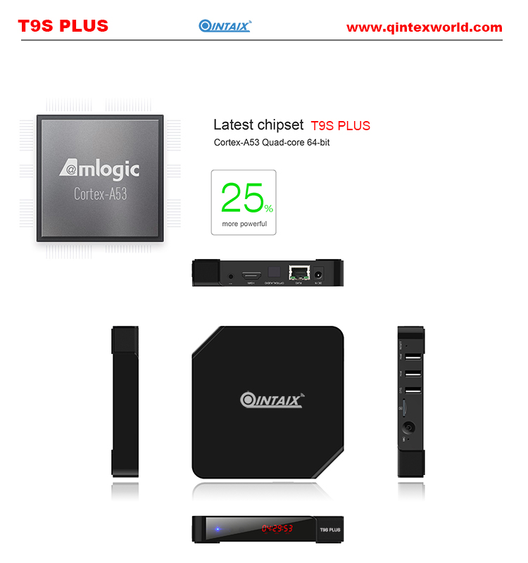 S905 T9S Plus Android TV Box Amlogic Quad Core 2G/16G 2.4 GHz Android 5.1 H.265 HDMI 2.0 Miracast DLNA Smart TV caja android 5 1 amlogic s905 2g 16g wifi