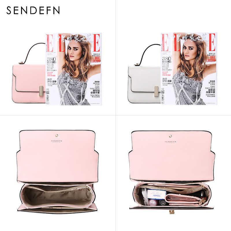 SENDEFN брендовая сумка через плечо повседневные сумки на плечо женский Маленький модный из кусочков кожи сумки-мессенджеры женская модная сумка 7139-68